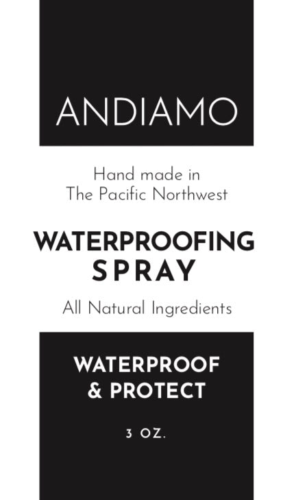 ANDIAMO Leather Waterproofing Spray 3 oz.