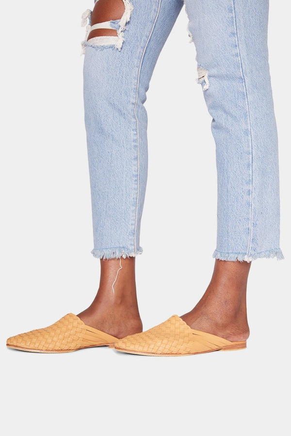 BURKINA LEATHER MULES - NATURAL shoes LADY ALAKO