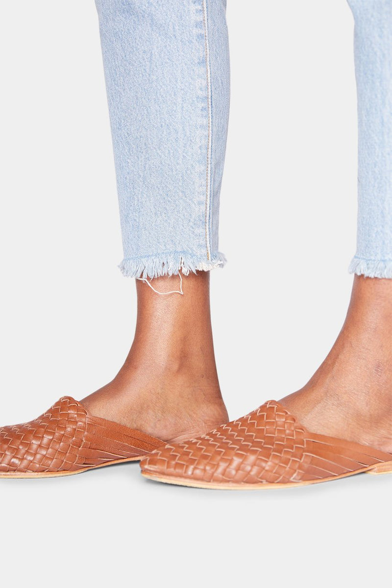 BURKINA LEATHER MULES - TAN shoes LADY ALAKO