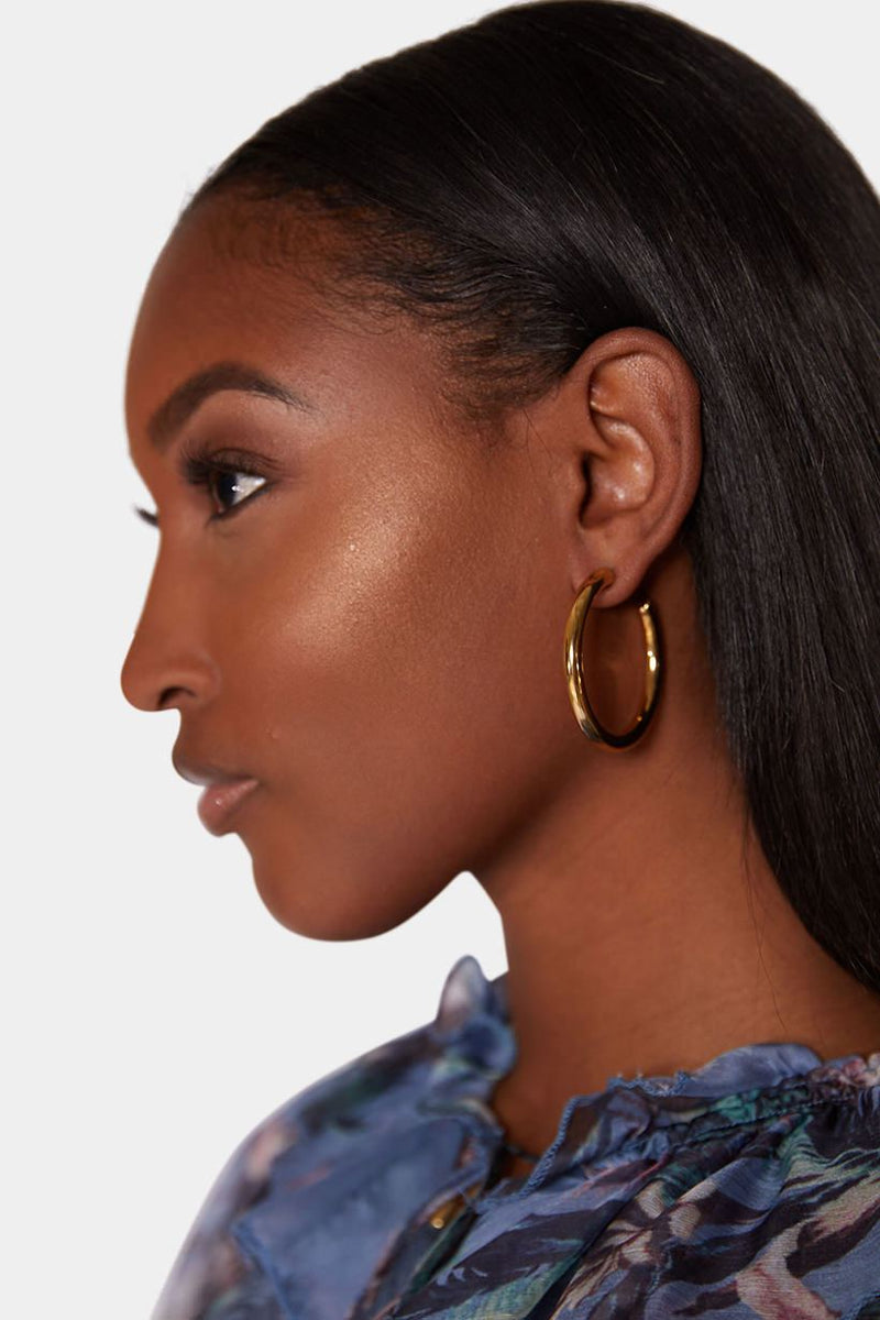 SOKO STAINLESS GOLD HOOPS earrings LADY ALAKO
