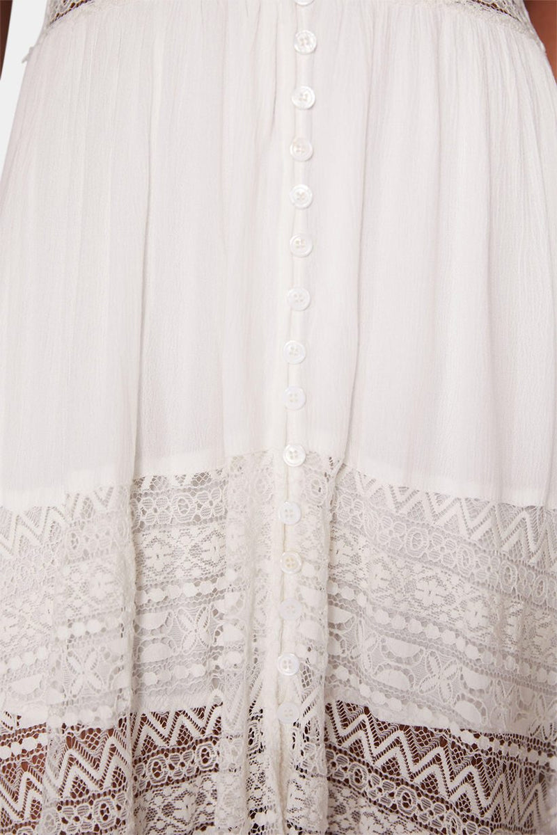 VICTORIA LACE MIDI DRESS - WHITE dress LADY ALAKO