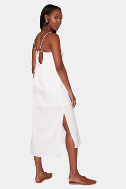 VIENNA SATIN SLIP DRESS - WHITE dress LADY ALAKO