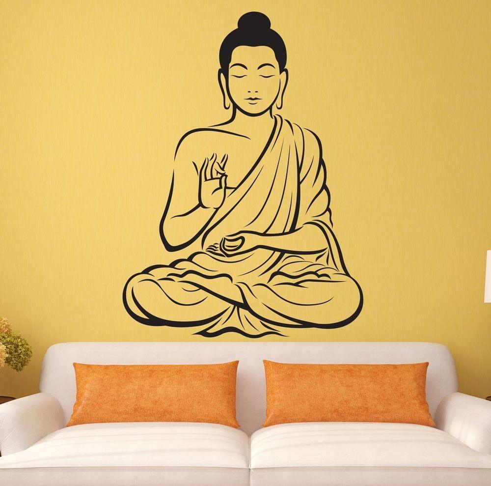 Meditating Buddha Wall Sticker - Buddha Passion