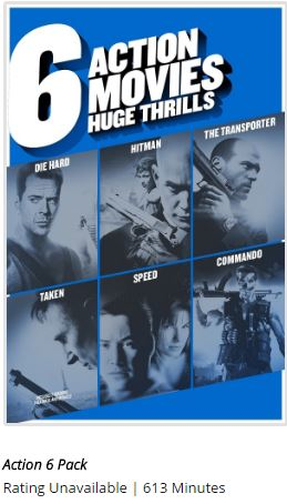 Multi-Movie 6 Action Movie Huge Thrills (DVD) Collection Set