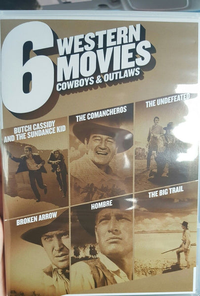 Multi-Movie 6 Western Movies Cowboys & Outlaws (DVD) Collection Set