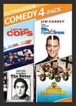 Multi-Movie Outrageous Comedy 4-Pack (DVD) Collection Set [Let's Be Cops, Me, Myself and Irene, The Sitter, Super Troopers]