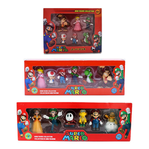 6Pcs Super Mario Bros action figures