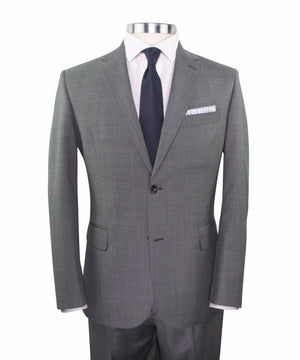 Grey Worsted Wool Suit
