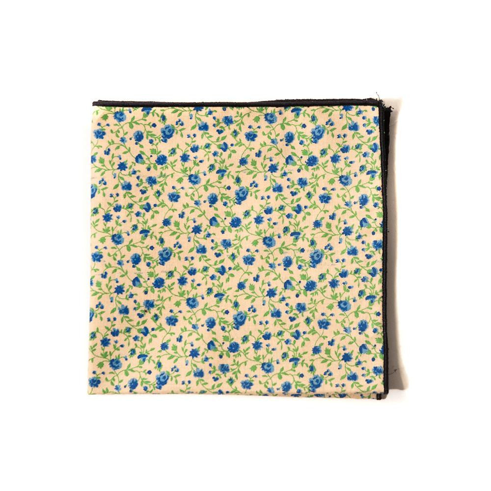 TWEEDS Khaki Floral Pocket Square