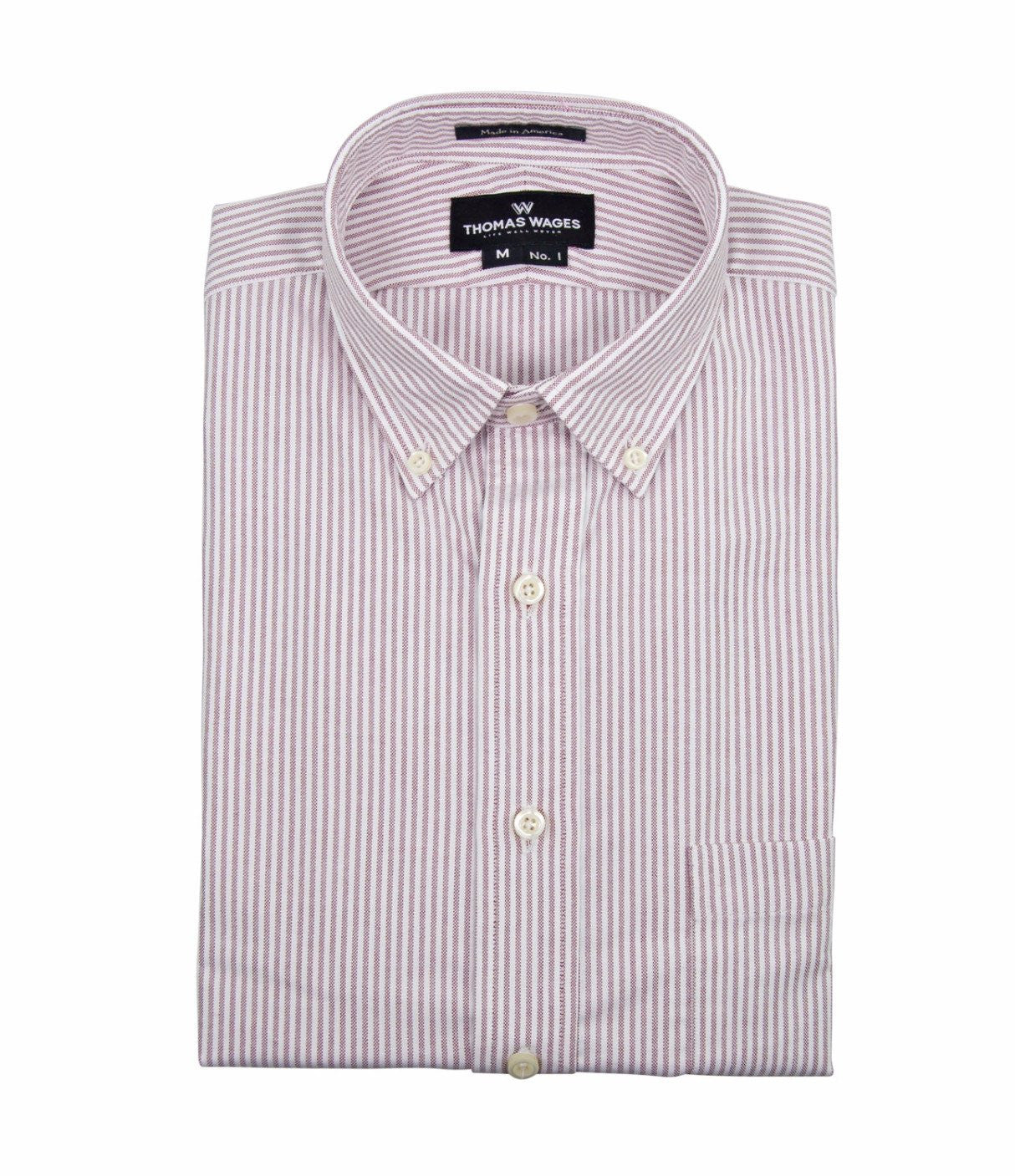 Red University Stripe Oxford