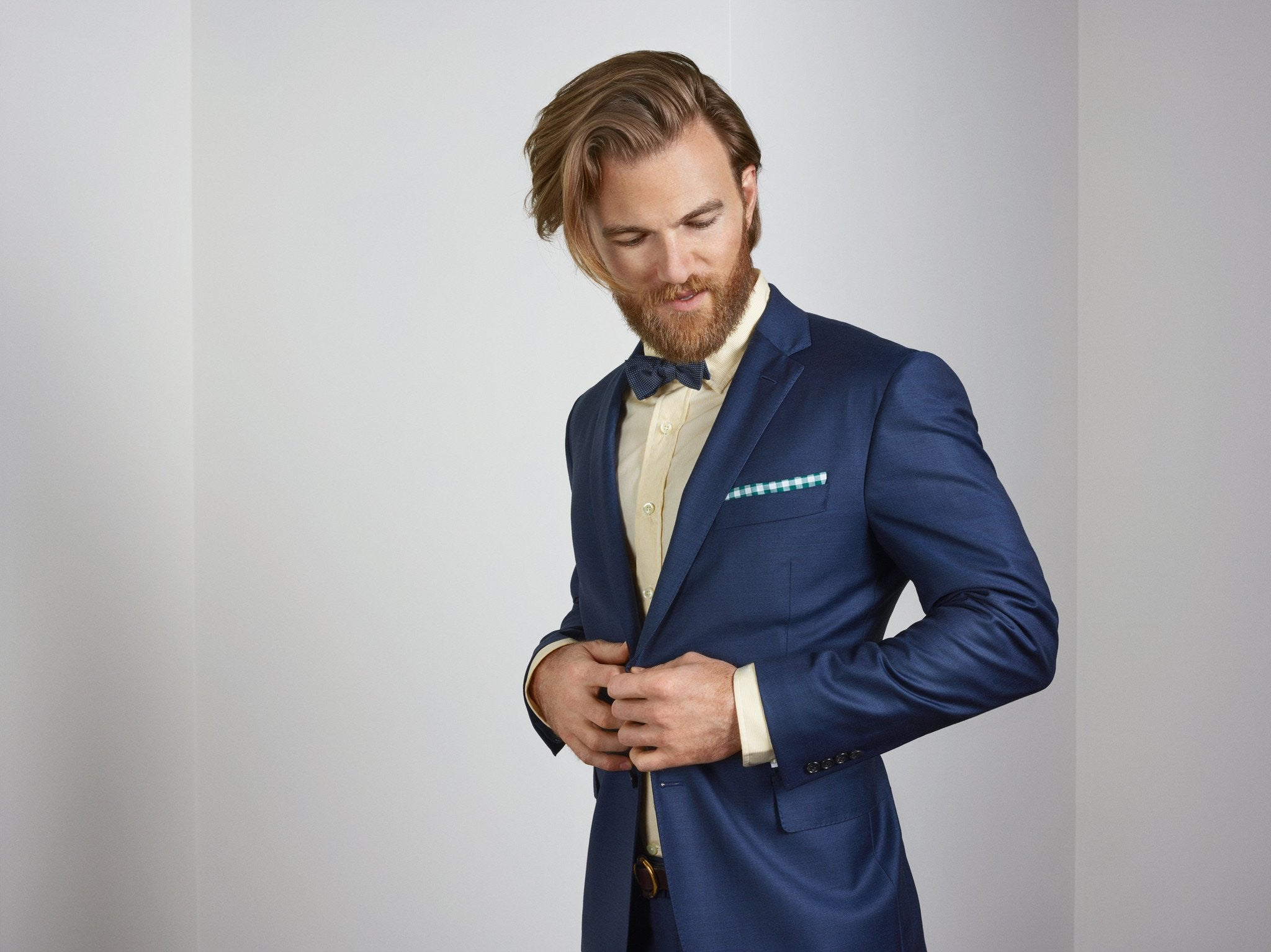 True Navy Worsted Wool Suit