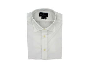 White Performance Dress Shirt w/ tie bar eyelets