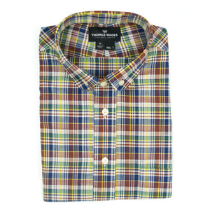 Multicolored Madras Short Sleeve