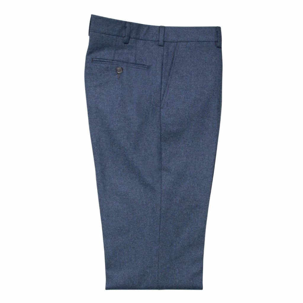 Slate Blue Flannel Trouser
