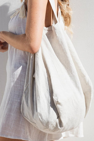 The Beach People Linen Tote Natural
