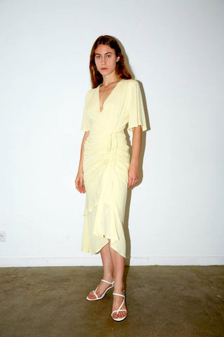 AÉRYNE | Liotia Dress - Light Butter Yellow