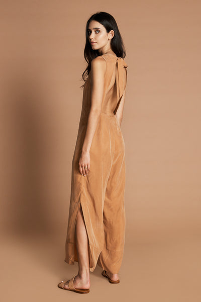 SANCIA Alea High neck Jumpsuit Beech Tan
