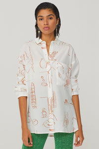 PALOMA WOOL | MISA Casa Print Shirt - Off White