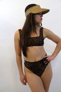 SIDWAY | The Karen Hi-Rise Bikini Bottom - Animalia Leopard Print