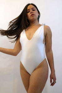 SIDWAY SWIM | Anderson One Piece - White