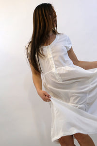 LACAUSA Virginia Dress Cotton White