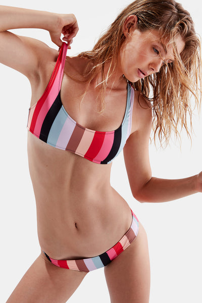 SOLID & STRIPED Elle Bikini in Malibu Stripe