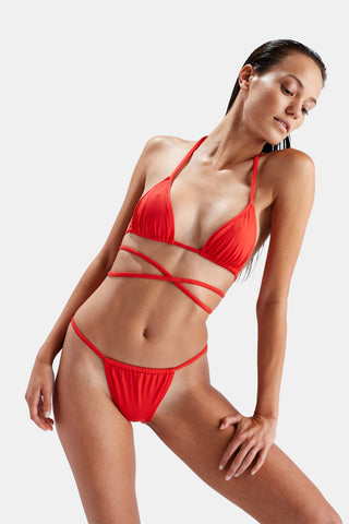 SOLID & STRIPED Hannah Bikini in Red