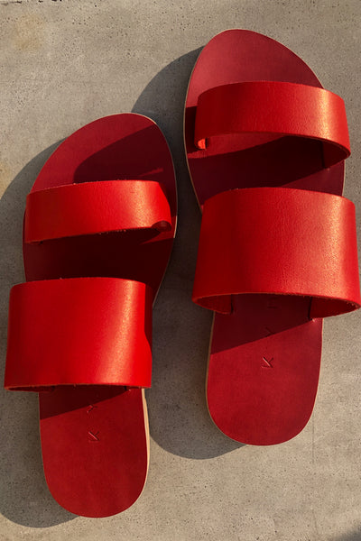 KYMA | Delos Two Strap Sandal - Red