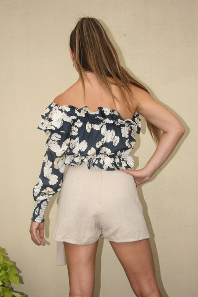 SIR the Label Bellagio One Shoulder Top Floral Print stockists retailers