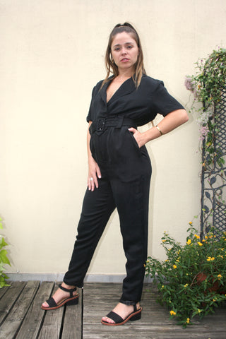 SIR the Label Emmanuel Jumpsuit Black stockists retailers