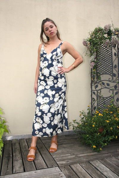 SIR the Label Bellagio Midi Slip Dress Floral Print stockists retailers