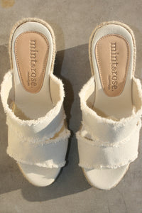 MINT & ROSE | Emma Canvas Espadrille - White