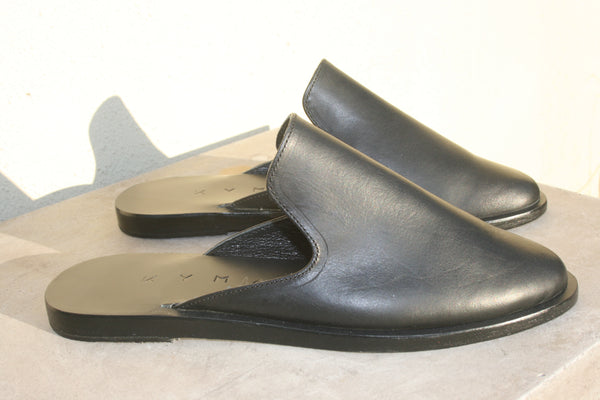 kyma closed toe slip on morrocan greece koroni black