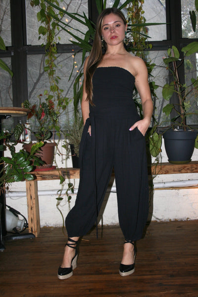 ANAAK Kai Strapless Jumpsuit Black