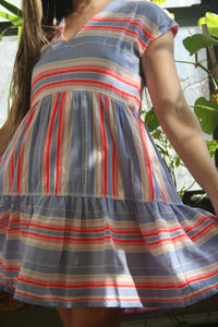 lemlem lavendar stripe fiesta dress