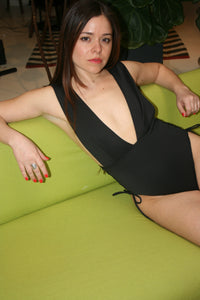 Kopper & Zink Hudson One Piece swimsuit sexy low cut Black
