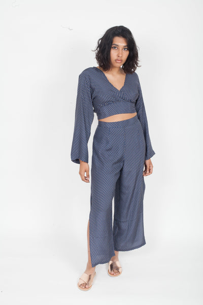 SIR the Label Emelie Split Leg Pant Navy
