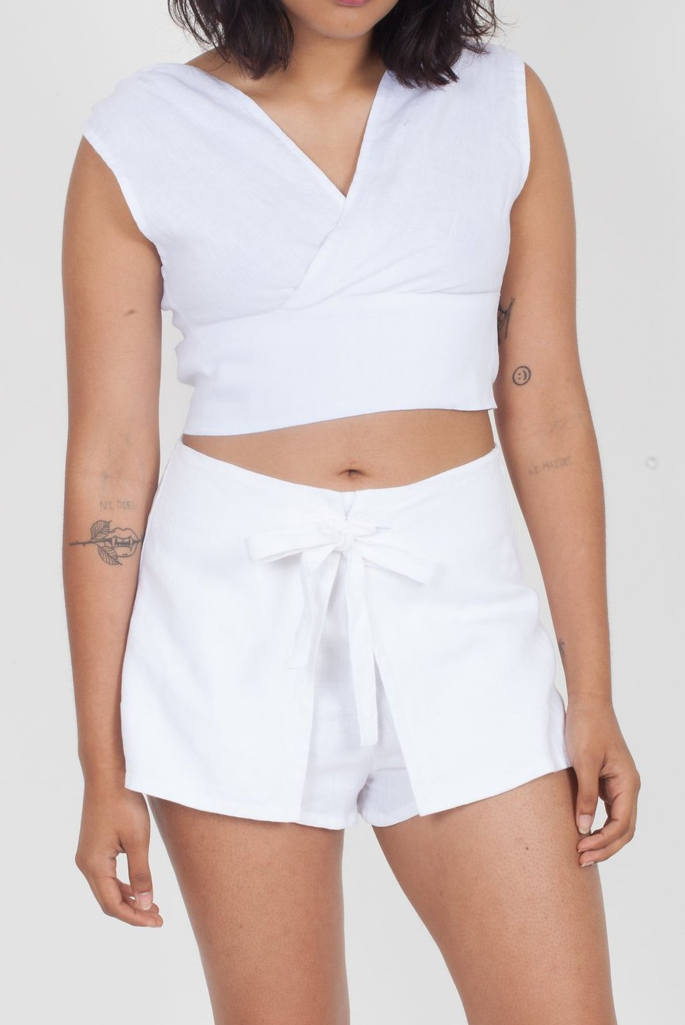 SIR the Label Ines Tie Mini Short White