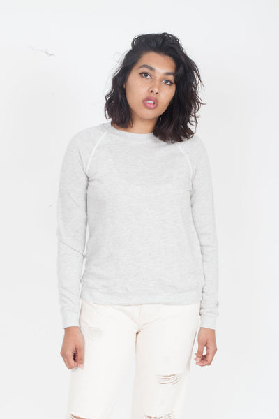 LACAUSA Favorite cozy Sweatshirt Heather Grey