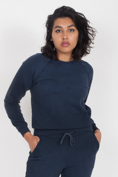 LACAUSA Surf distressed Sweatshirt Navy