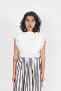 SIR the Label Ciel Top with Laced Back Ivory
