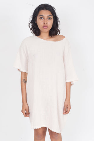 ANAAK Kai Crewneck Tunic in Soft Pink-Ivory