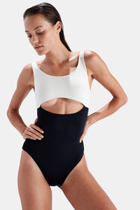 SOLID & STRIPED Natasha One Piece in Black and Cream