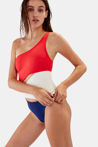 SOLID & STRIPED | The Louise One Piece - Firecracker