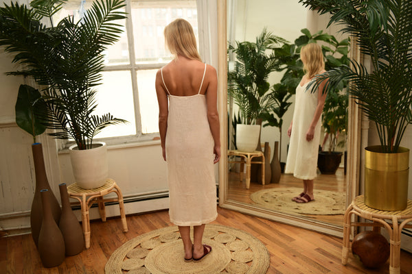 LACAUSA Spice Slipdress in Bone
