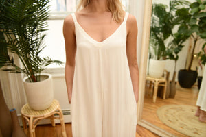 LACAUSA Siena Jumpsuit in Bone
