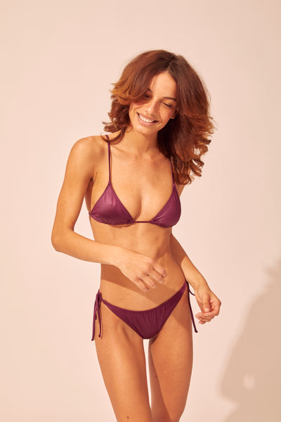 SOLID & STRIPED | Iris Bikini Bottom - Eggplant