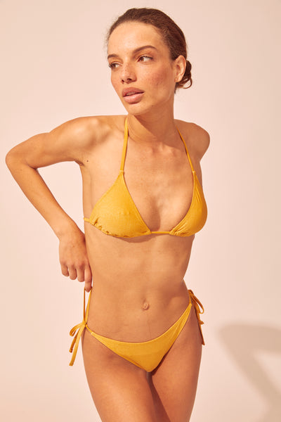 SOLID & STRIPED | Iris Bikini Top - Glitter Gold