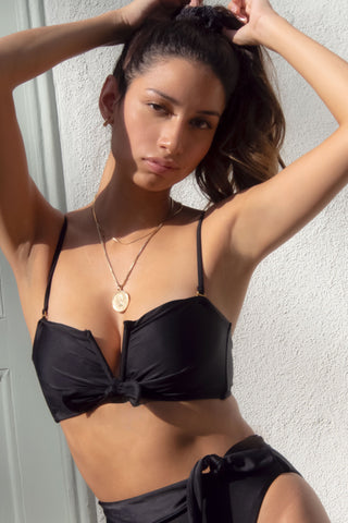 SIDWAY | The Beverley Bandeau Bikini Top - Black