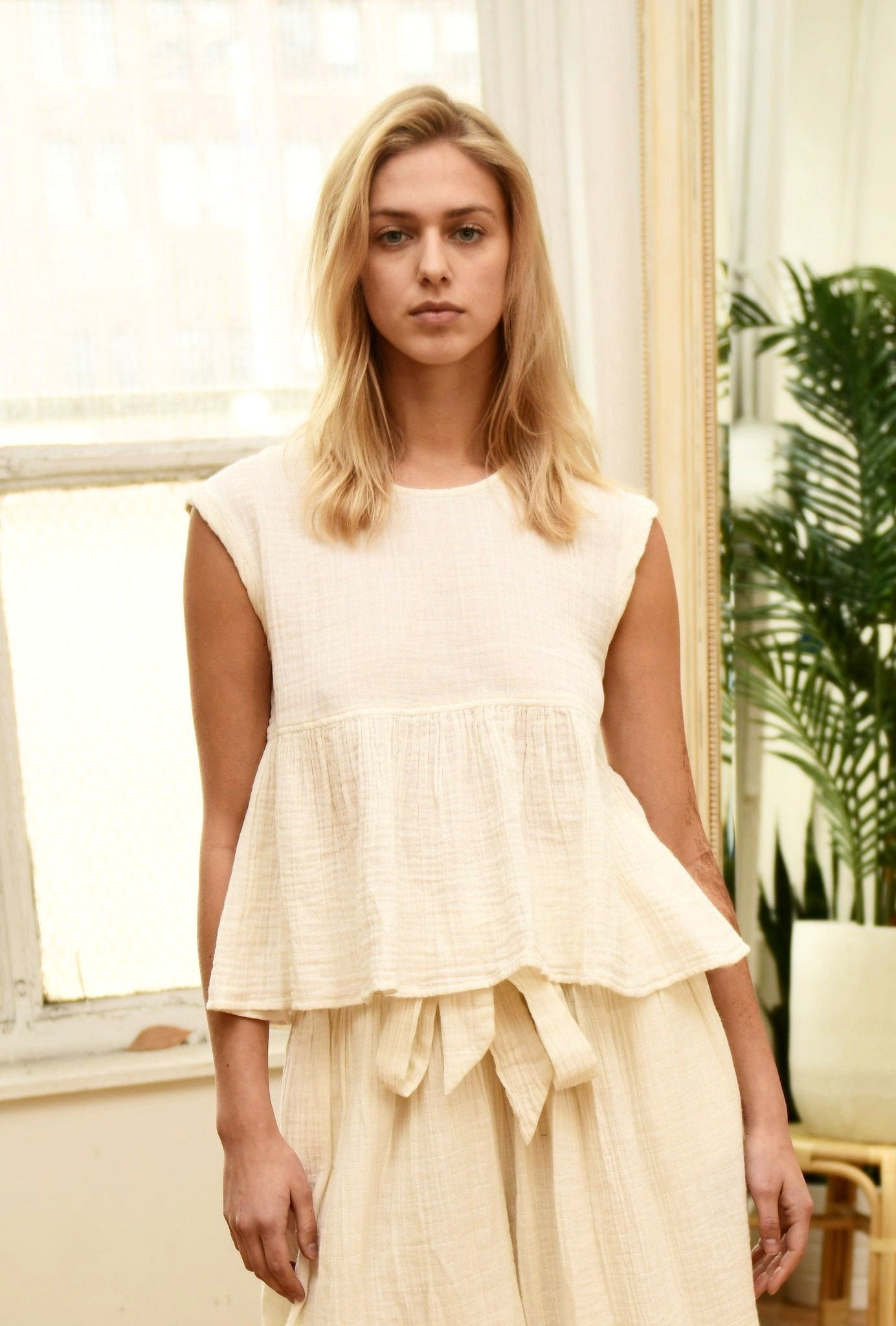 VOLOSHIN Catia Top in Ivory